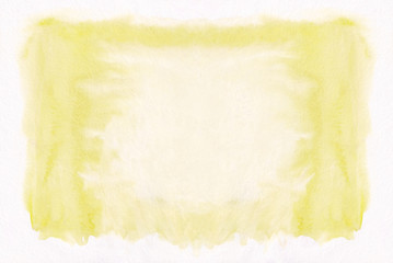 Yellow horizontal  watercolor gradient  hand drawn  background. Middle part is lighter than other sides of image.