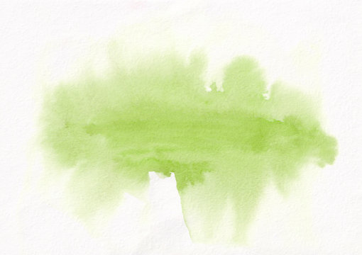 Light green horizontal  watercolor gradient  hand drawn  background. It's useful for graphic design, backdrops, prints, wallpaper and etc