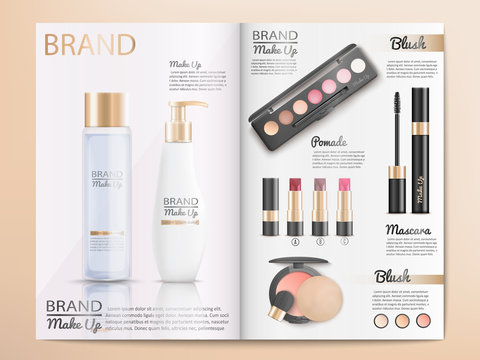 Cosmetics Products Catalog or Brochure Template
