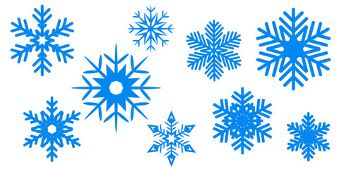 Blue New Year snowflake background - stock vector