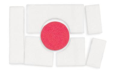 Japanese flag made from children's mosaic magnet
