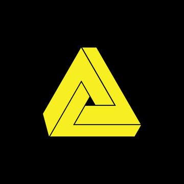 triangle 3d logo vector