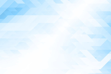 Low poly Abstract background in blue tone.