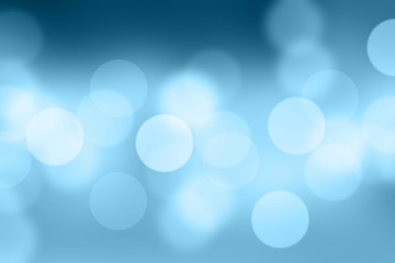 Blurred abstract blue background for presentation product or wallpeper webpage background, Bokeh design