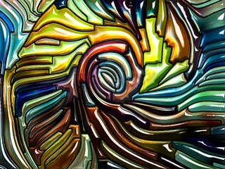 Stream of Iridescent Glass