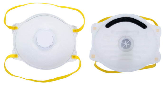 Respirator face mask isolated on white background.Protective face mask isolated