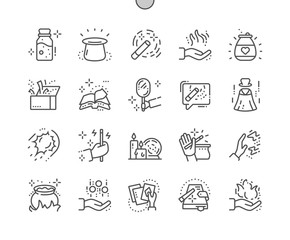 Magic Well-crafted Pixel Perfect Vector Thin Line Icons 30 2x Grid for Web Graphics and Apps. Simple Minimal Pictogram