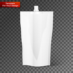 Blank spout pouch, bag foil or plastic packaging
