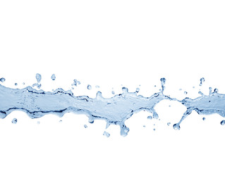 water splash isolated on white with clipping path