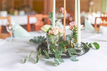 romantische Tischdekoration, Retrolook