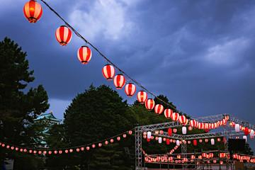名古屋城 夏祭りの風景