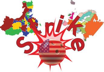 strike dell'America all'Europa e Cina