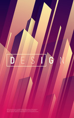 Vector abstract dynamic geometric background, cover, poster