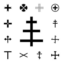 Cross papa icon. Detailed set of cross. Premium graphic design. One of the collection icons for websites, web design, mobile app