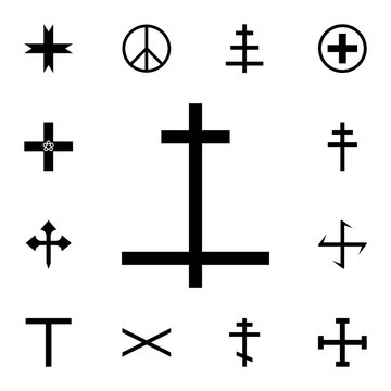 Laurana cross icon. Detailed set of cross. Premium graphic design. One of the collection icons for websites, web design, mobile app
