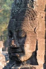 Gesichter am Tempel von Bayon, Angkor, Kambodscha