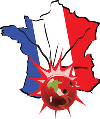 Italia colpisce la Francia