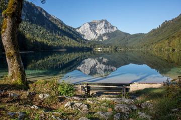 Langbathsee in Österreich wie ein Spiegel
