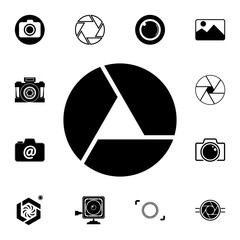 camera focus icon. Detailed set of photo camera icons. Premium quality graphic design icon. One of the collection icons for websites, web design, mobile app