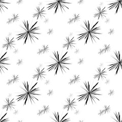 Vector seamless pattern with ink circle textures. Abstract seamless background with fireworks.