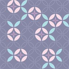 Japanese flower pattern vector. Geometric template background. Morning glory flower vector.