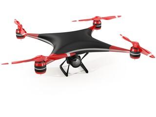Quadcopter drone, illustration