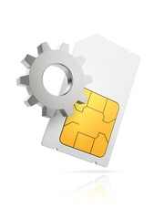 Sim card settings, conceptual illustration