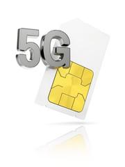 5G sim-card, illustration