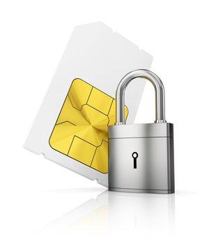 Sim-card security, conceptual illustration