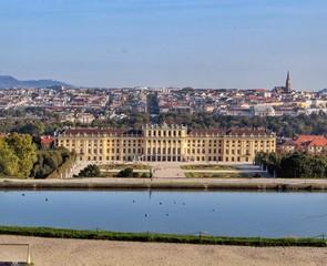 Schönbrunn Palace, in Vienna, Austria.