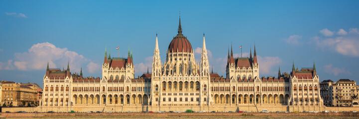 Fototapete - Panorama of Budapest parliament, Hungary