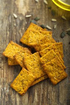 Homemade pumpkin crackers