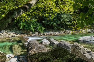 Tarcento, stony banks of the Torre river