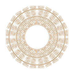 Vector tribal ornamental circle .Maya circle ,vector . Magic talisman.