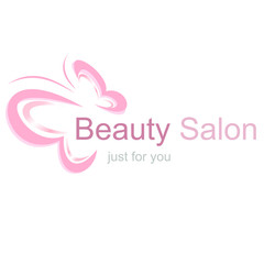 Logo for a beauty salon, butterfly