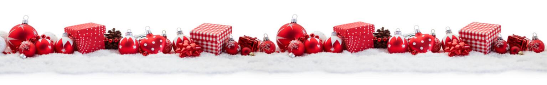 Frohe Weihnachten mit dekoriertem Banner Panorama