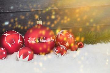 Frohe Weihnachten Hintergrund als Karte