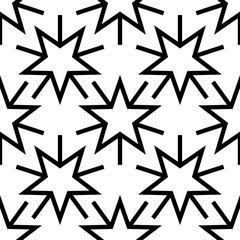 Christmas seamless background with stars, vector illustration