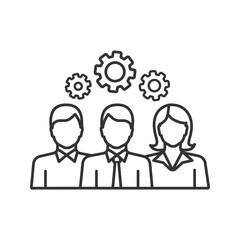 Teamwork linear icon
