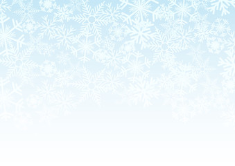 Vector Winter Background. A cold Christmas with snowfall and ice crystals