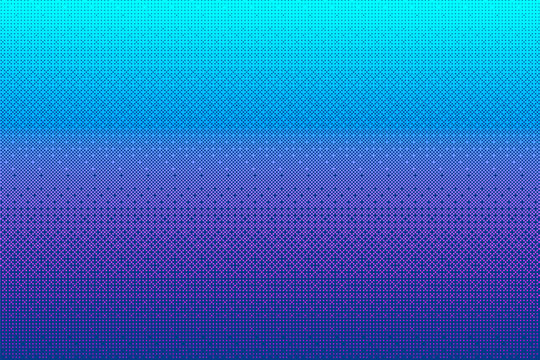 Pixel pattern background in blue, pink, purple color. Cyan 8 bit video game vector illustration. Abstract halftone texture . Retro arcade game