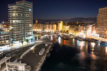 Fotomurales - Night lights of Savona, Italy