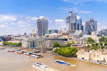Foto op Aluminium Kiev London downtown with River Thames
