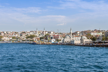 Istanbul, Turkey, 23 August 2018: Semsi Pasa Mosque, Uskudar