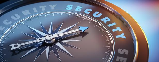 Dunkler Kompass mit Lichtspiel - Security