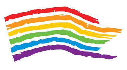 Rainbow flag / Vector illustration, LGBT movement symbol