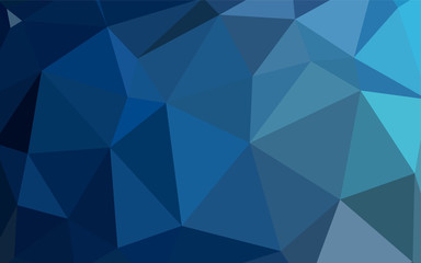 Dark BLUE vector low poly texture.