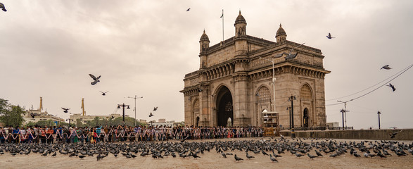 The Gateway of India on a monsoon day