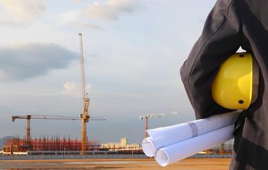 civil engineer on site