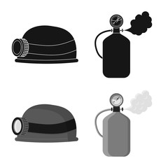 Vector illustration of mountaineering and peak logo. Collection of mountaineering and camp stock vector illustration.